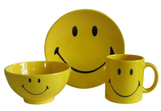 Smiley Bowl  Smiley Cup  Smiley Plate smiley