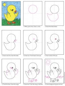 How to draw a baby chicken - photo#20