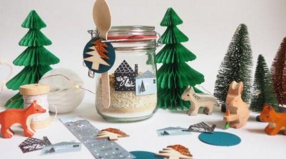 Kit riz au lait offrir cadeaux etiquettes pinterest - Petit cadeau de table pour noel ...