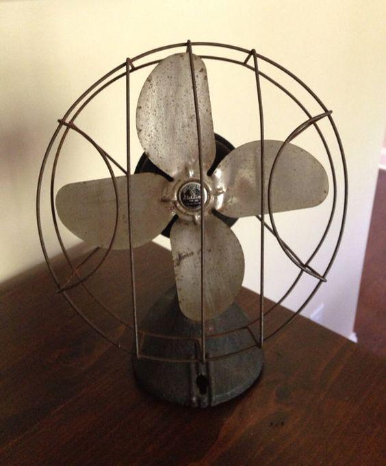 Antique Vintage Fan Decor 1930s Rustic Desk Home Decor On