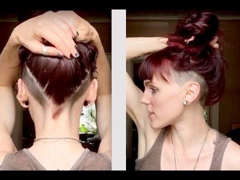 Women S Undercut Double Side Shave Youtube Undercut Long Hair Shaved Side Hairstyles Shaved Long Hair