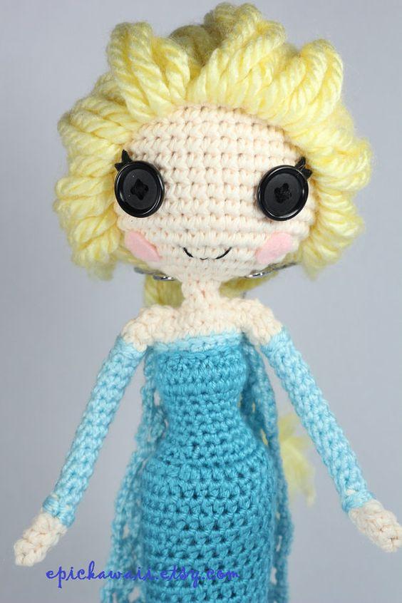 Disney Amigurumi Crochet Patterns : PATTERN: Elsa Crochet Amigurumi Doll Disney, Rose tyler ...