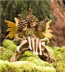 Miniature Fairy Garden Pine Cone Pixies Arch Fairies Pinterest