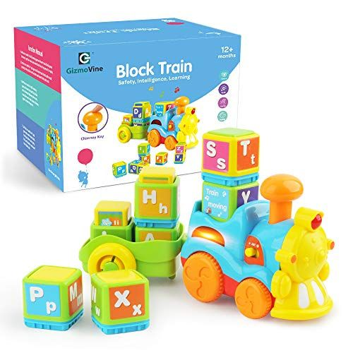 Gizmovine Train Toys Toddler Boy Toys Train With Letter Block Set Music Train Set Helps Toddlers Lea Toddler Boy Toys Preschool Learning Toys Kids Train Set