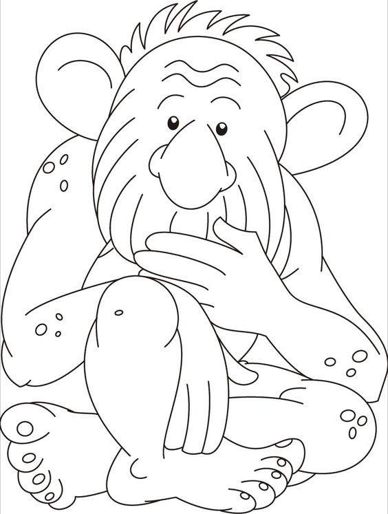 trolls printable coloring pages - troll doll coloring books sketch coloring page