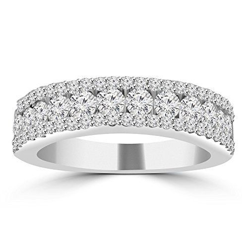 1.16Ct 14K White Gold Over Round Cut Diamond Engagement /& Wedding Ring Set