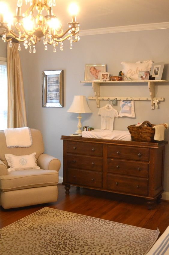 Love how this nursery achieves an elegance with a touch of masculinity! #nursery #babyboy
