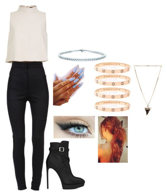 """""""#571"""" by paigehilary ❤ liked on Polyvore featuring Yves Saint Laurent, TIBI, Dolce&Gabbana, Cartier, Tiffany & Co. and Givenchy"""