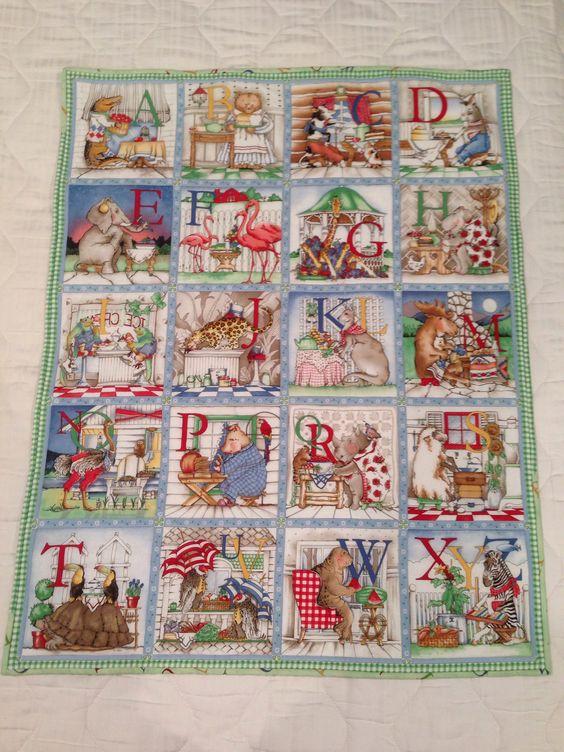 Cute alphabet quilt