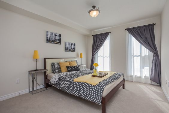 Grey and Yellow www.elizadreamhomes.com