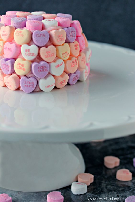 Conversation Heart Cakelettes   cravingsofalunatic.com   These Pink Velvet Cakelettes with Pink Cream Cheese Frosting are perfectly easy to make. Bake them to celebrate any special occasion with your famiglia and friends.