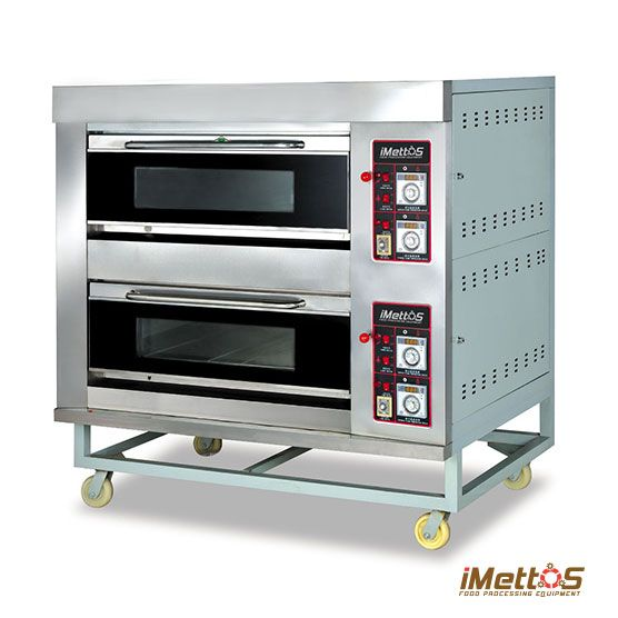Commercial Ovens Gas Baking Oven Arf 40h 2 Layer 4 Trays Deck
