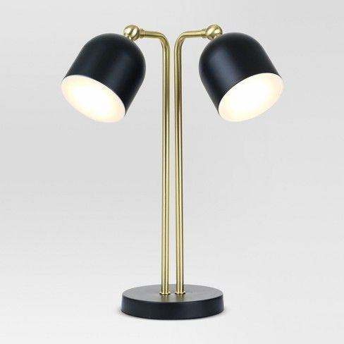 Dylan Bullet Shaped Dual Head Table Lamp Black Includes Led Light Bulb Project 62 Energy Efficient Light Bulbs Led Table Lamp Black Table Lamps