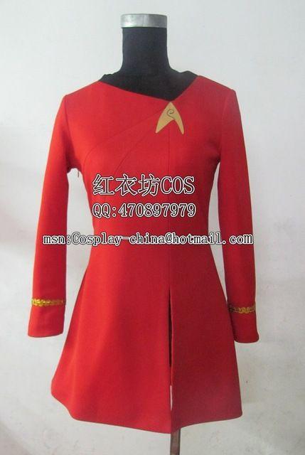 Kostenloser versand star trek Kostüm cosplay star trek weibliche uniform Kleid Kostüm Nach Maß