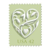 The new All Heart stamp came out from USPS yesterday!      Also making their debut are this year's wedding stamp duo (42 and 59 cents respectively). read more