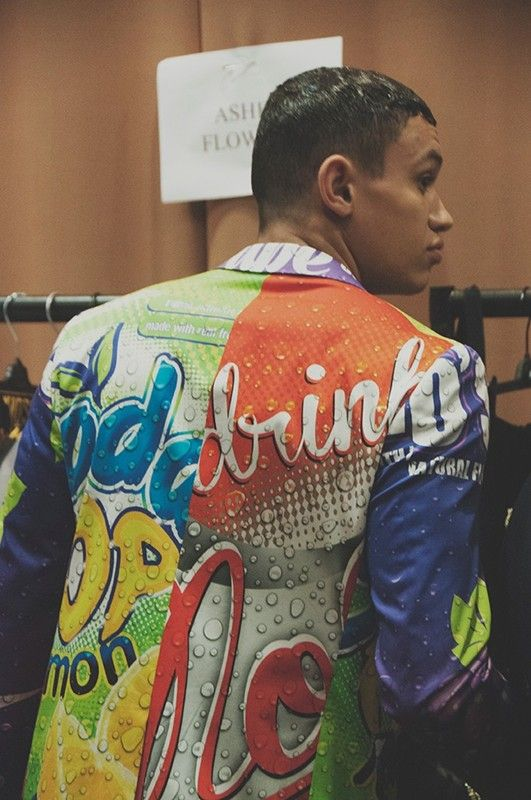 Backstage at Moschino SS15