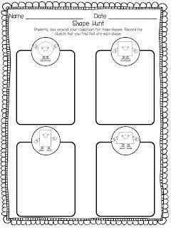 Free 3d shape worksheets ks1