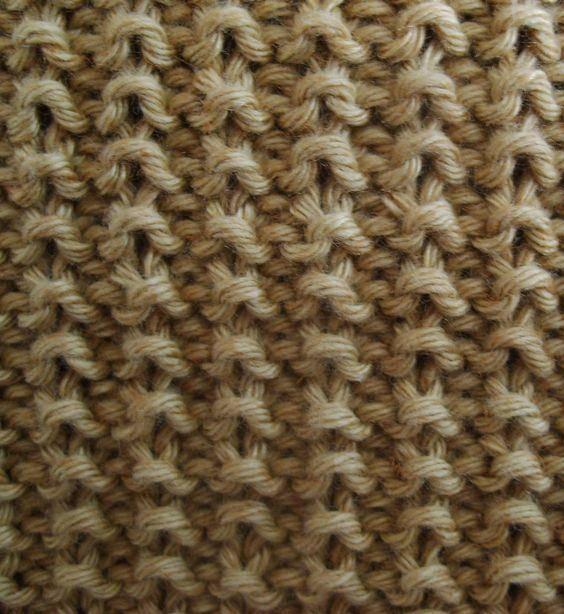 Point de sable aiguilles pinterest chevron simple - Point de ble au tricot ...