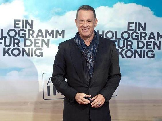 Tom Hanks bei der Europapremiere seines Films Ein Hologramm für den König in Berlin.