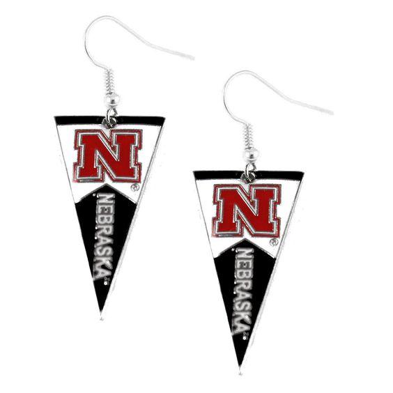 Nebraska Cornhuskers Women's Pennant Dangle Earrings
