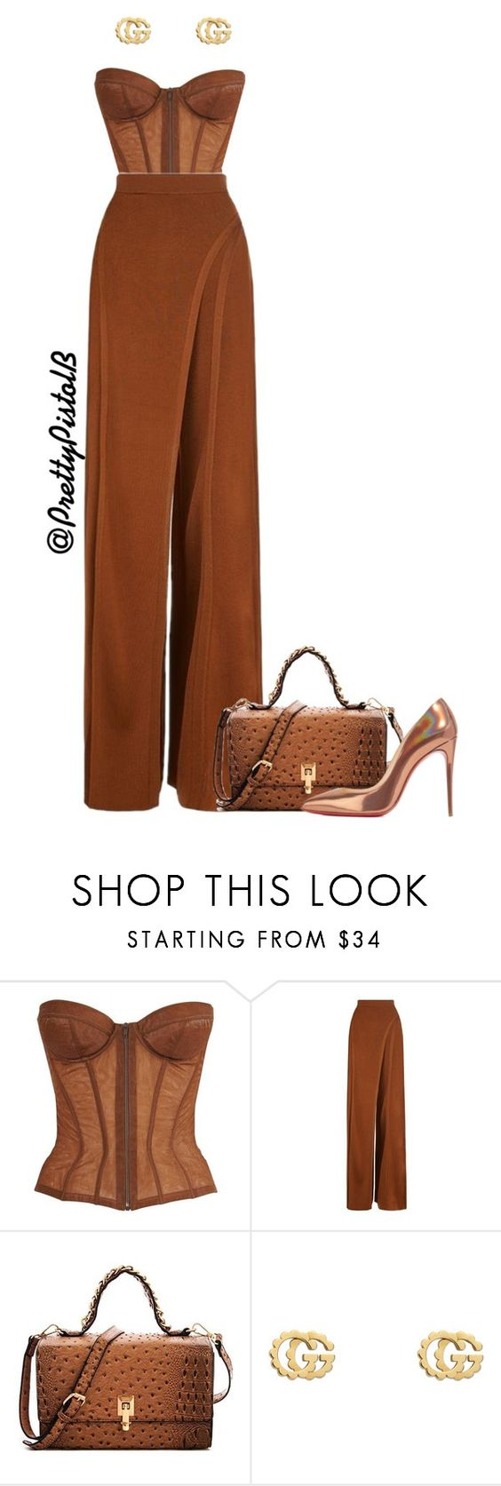 """Untitled #138"" by btatum1993 on Polyvore featuring Chanel, Balmain, Gucci and Christian Louboutin"
