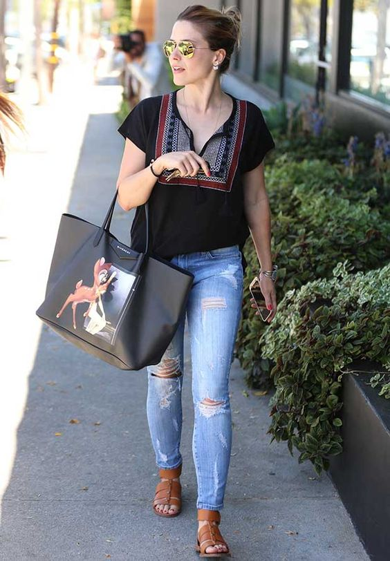 Sophia Bush and Givenchy Bambi Natigona Shopper