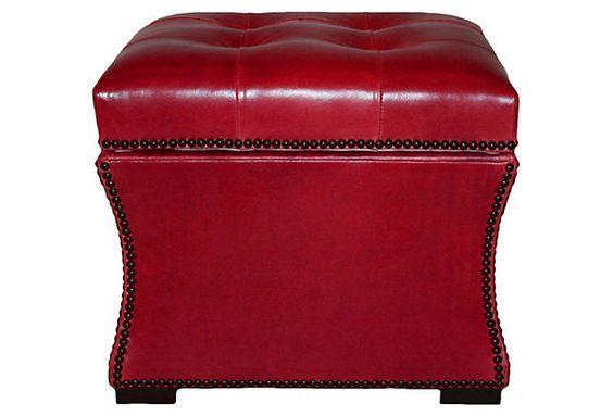 Claire Storage Ottoman, Crimson    $1,229.00