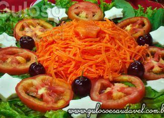 Salada Mix com Folhas Verdes