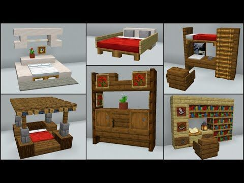 Minecraft 40 Bedroom Build Hacks And Ideas Minecraft Bedroom Minecraft Decorations Minecraft Interior Design