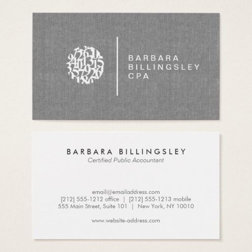 Modern Numbers Logo Linen Accountant Business Card Zazzle Com Zazzle Business Cards Business Card Design Business Cards Layout