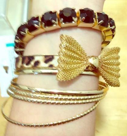 Target bracelet arm party! so cute