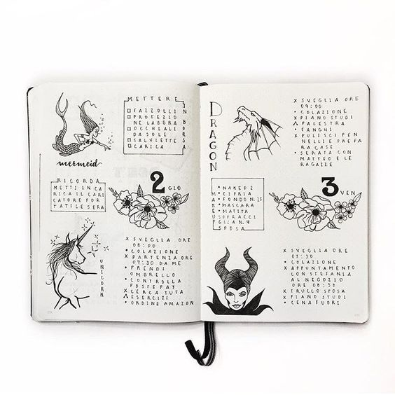 Bullet Journal® with Clarissa @my_journaling_corner Daily Logs: