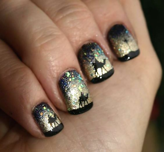 We Three Kings nails. Time consuming? Definitely. Worth it? Absolutely.