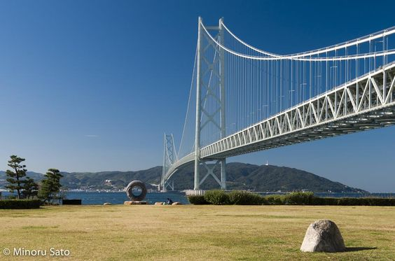 Akashi Kaikyo Bridge - The longest suspension bridge in the world by Minoru Sato