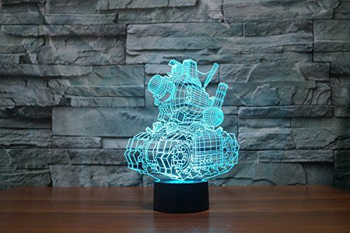 20 99 Creative 3d Glow 7 Colors Optical Illusion Led Night Lights With Unique Lighting Effect Specia Color Changing Led Color Optical Illusions Night Light