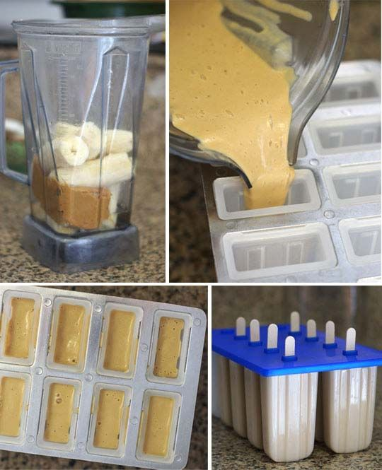 ... bananas popsicles peanuts peanut butter ice pops butter ice pop