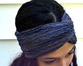 OH HEY, GLAMOUR Hairband Turban in Stormy Ocean
