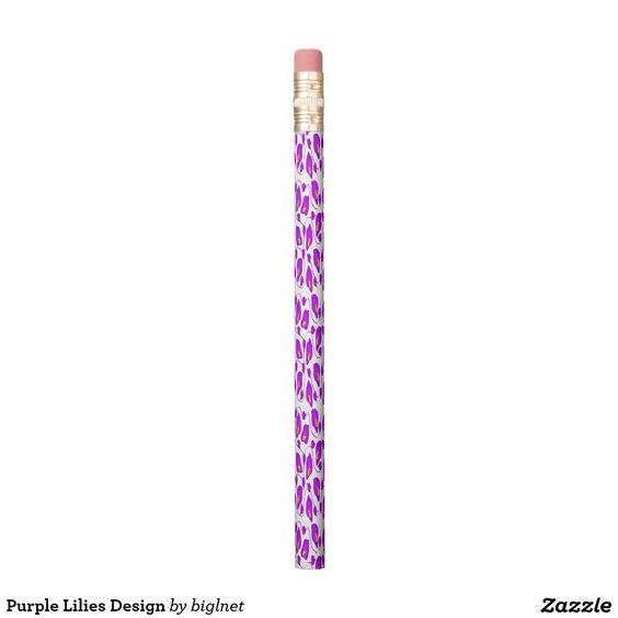 Purple Lilies Design Pencil