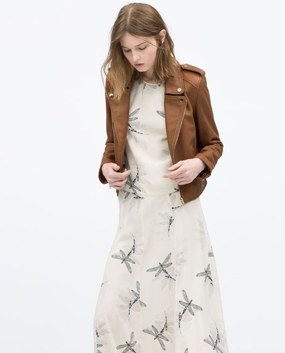 ZARA - COLLECTION SS15 - LEATHER JACKET