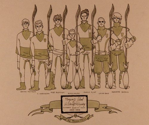 Slytherin Quidditch Team by Abby Boeh