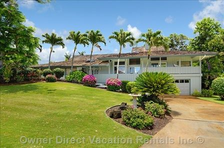 Gorgeous Hawaiian home in Kiahuna Golf Village, Poipu Beach, Kauai with private swimming pool and spa.