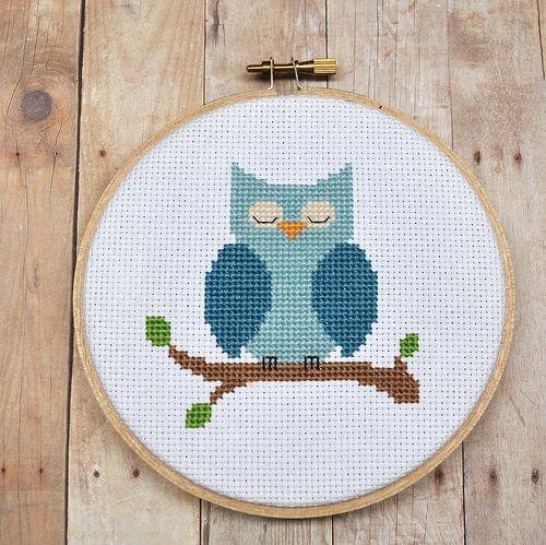 Cross Stitch - Owl     aspiringartisans....