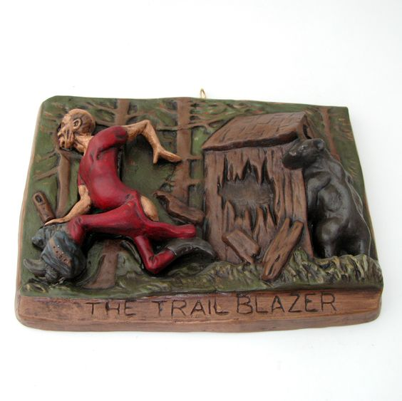 SERIES OF 4 COMICAL WESTERN WALL MOUNT: THE TRAILBLAZER