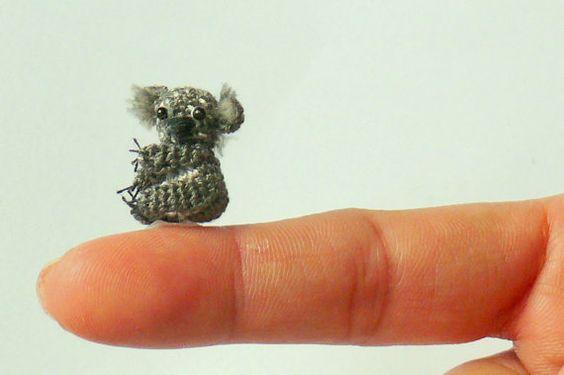 Miniature amigurumi koala bear. So cute I can hardly by KimsAmi