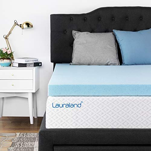 Lauraland Mattress Topper Queen 3 Inch Ventilated Design Memory
