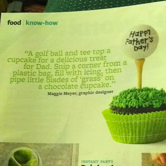 Golf Cupcakes Father's Day