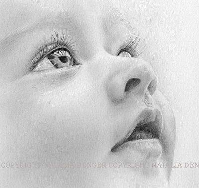 Custom Portrait Children Baby Portrait Face Eyes by NataliaDENGER,