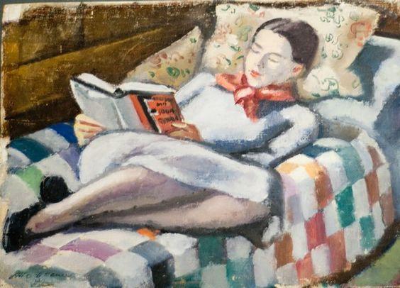 La lectrice du peintre allemand Emil Holzhauer