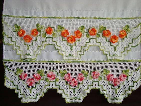 bico de croche com flores com graficos - Pesquisa Google: