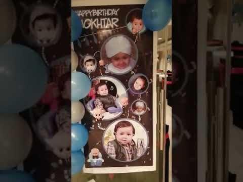 ديكور عيد ميلاد لطفل عمره سنه عام ثيم بوس بيبى Boss Baby Theme Youtube Balloon Decorations Balloons Cards